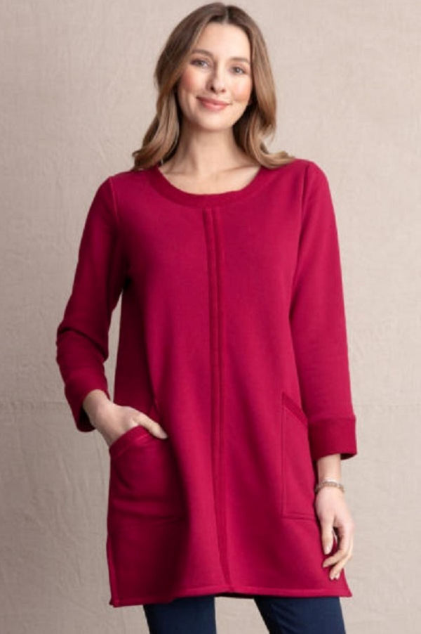 Habitat Honeycomb Terry Pocket Dress/Tunic in Barn Red