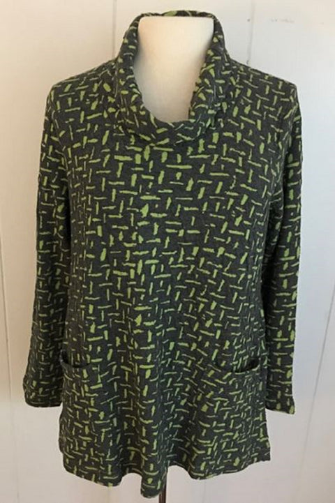 Komil Cross River Turtle Neck Top-Green