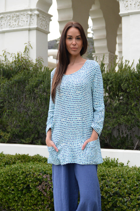 Komil Potrush Weave Tunic - thread to cloth