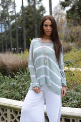 Wind River Feather Boulce Stripe Sweater - thread to cloth