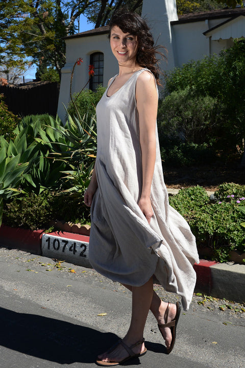 Luca Vancucci Linen Tank Dress - thread to cloth