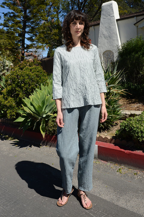 Cut Loose Cross Hatch Rolled Pant-Sagebrush