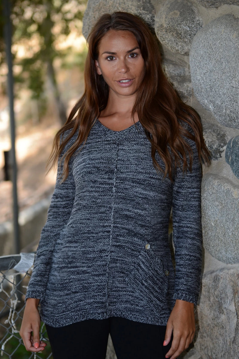 Cotton Yarn V-Neck  Sweater By Wind River - thread to cloth