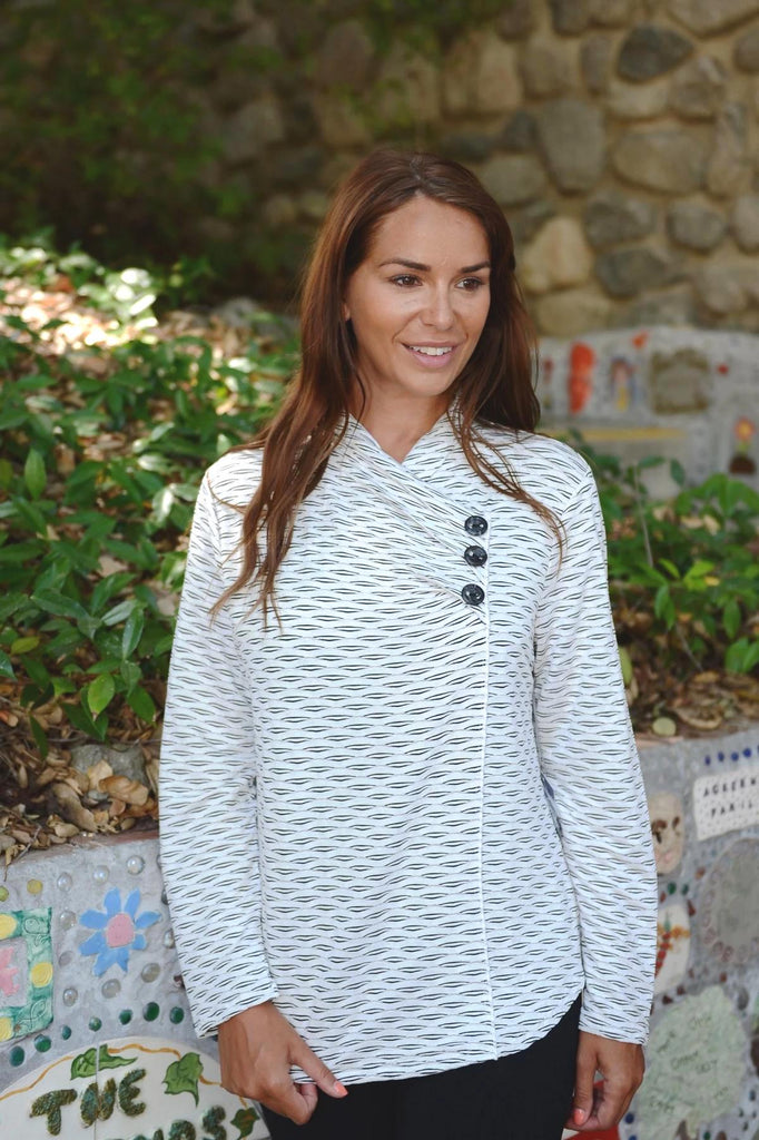 Habitat Surplice Button Top