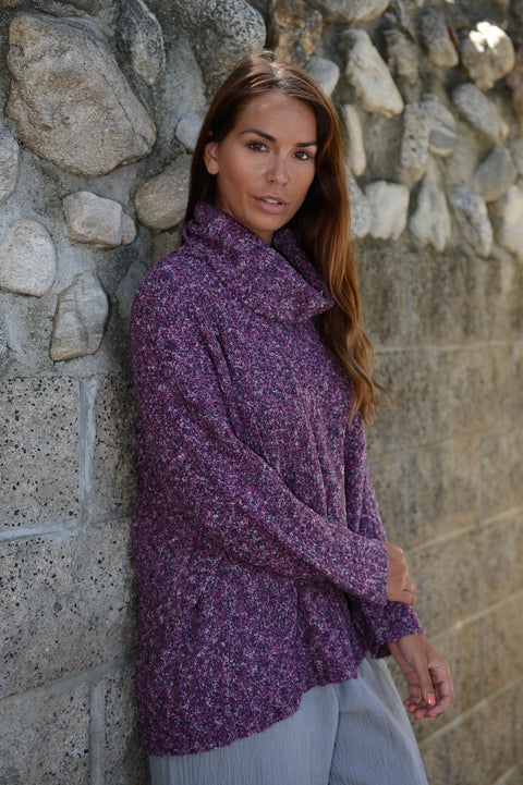 Multi-Yarn Turtleneck Sweater By Wind River