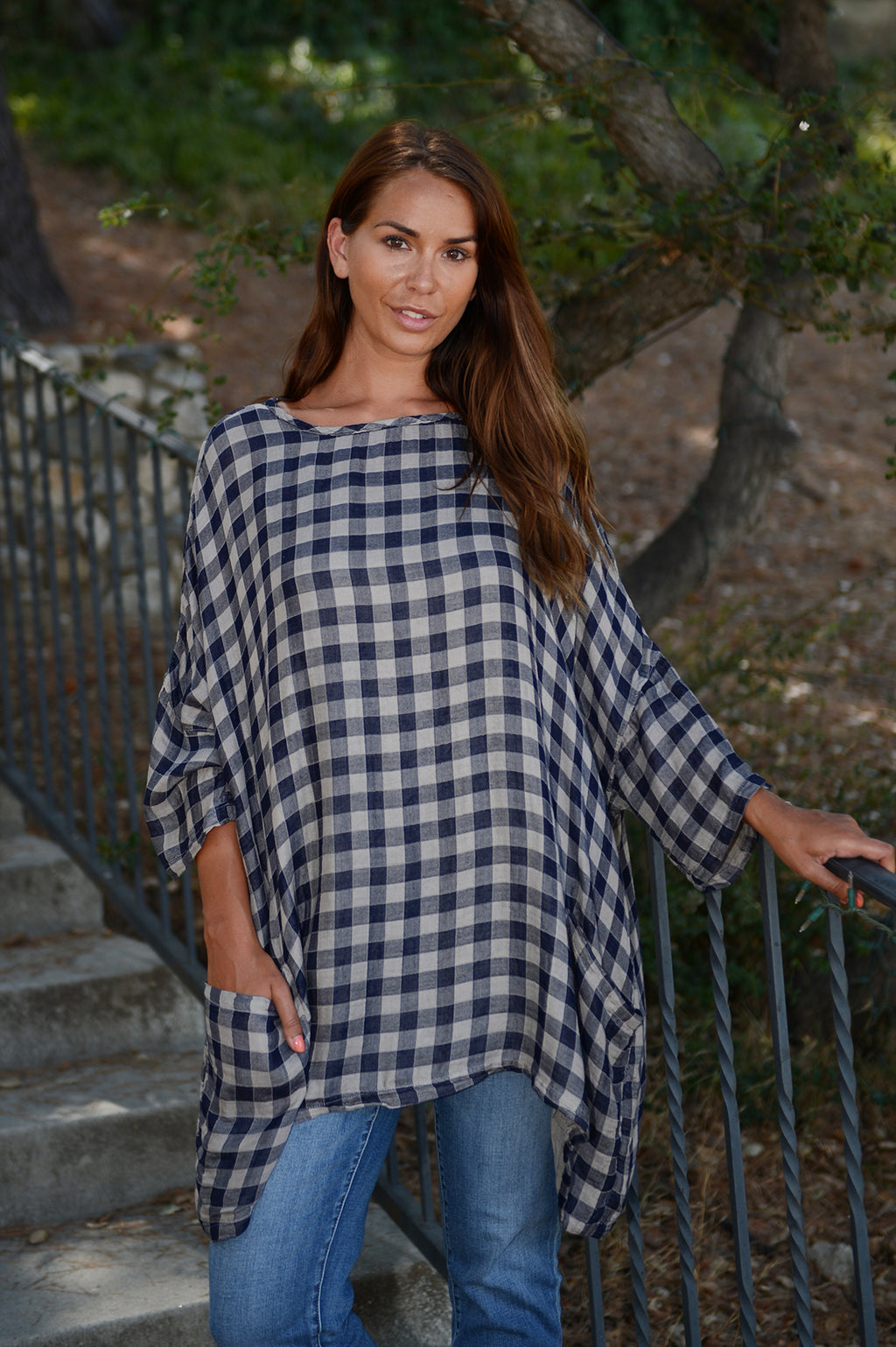 Cut Loose Checkered Double Cloth One size Pullover - thread to cloth