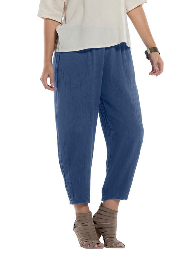 Oh My Gauze Dart Pant-Denim - thread to cloth