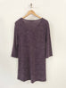 Yest V Neck Side Button Tunic-Dark Plum