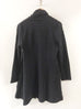 Komil Boston Waffle Long Coat-Black - thread to cloth