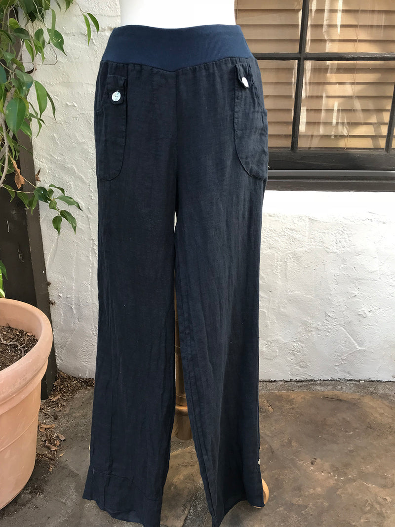 Luca Vancucci Linen Button Pocket Pant - thread to cloth