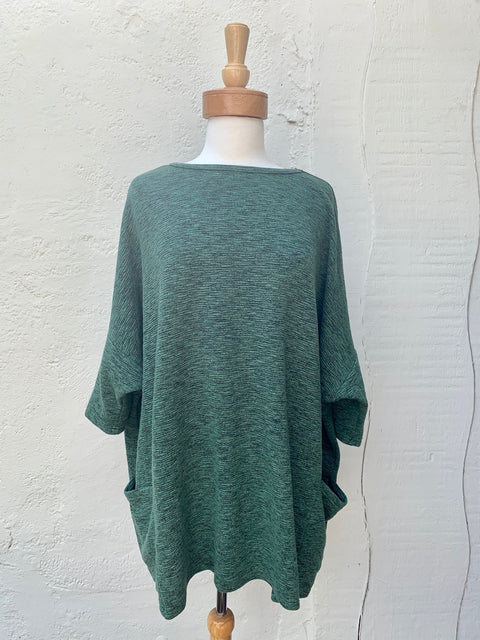 cut loose crimped one size tunic for fall