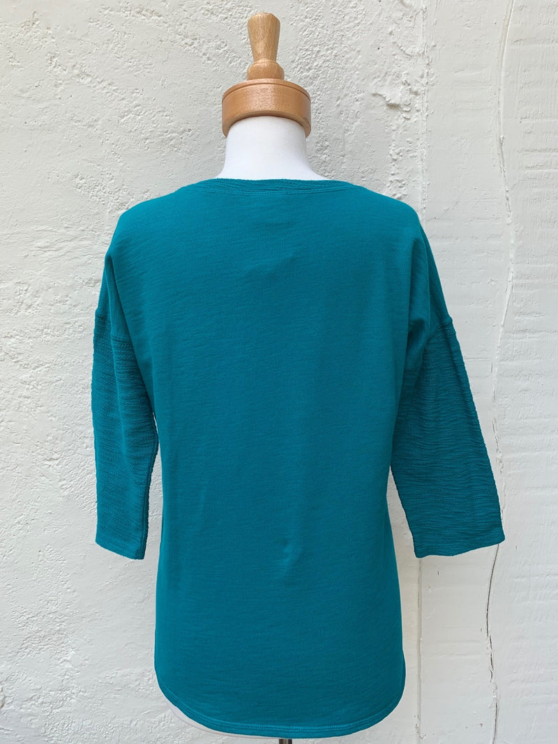 Color Me Cotton Slub French Terry Seamed Top - thread to cloth