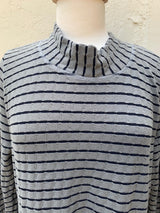 Cut Loose Stripe Pocket Sweater Tunic Top - thread to cloth