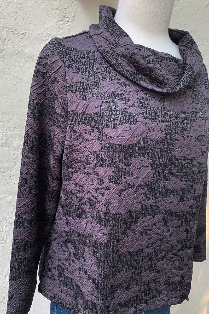 Habitat Abstract Floral Jacquard Side Button Pullover