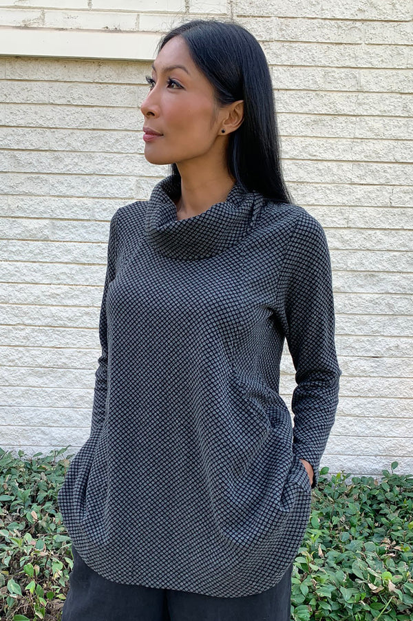 Komil Apollo Weave Cowl Neck Tunic