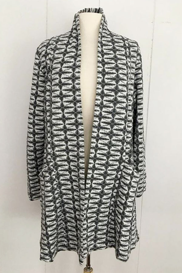 Komil Pebble Weave Long Jacket