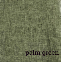 Cut Loose Ruched Pant Crosshatch Linen-Palm Green