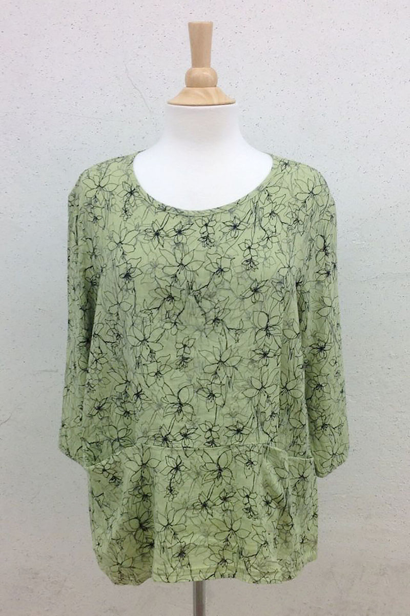 Cut Loose Pocket Pullover Graphic Floral