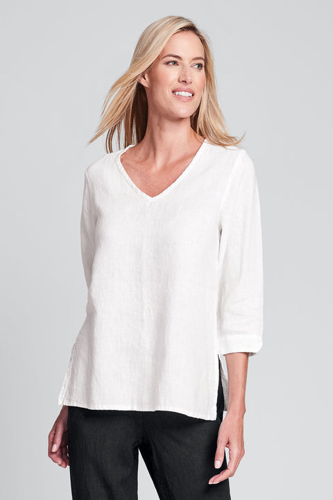 Flax linen pullover top by flax