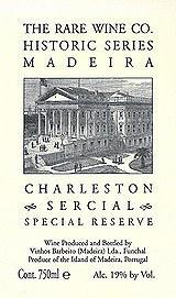 The Rare Wine Co. Historic Series Charleston Sercial Special Reserve Madeira (750 ml)