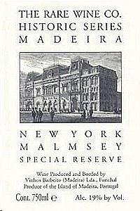 The Rare Wine Co. Historic Series New York Malmsey Special Reserve Madeira (750 ml)