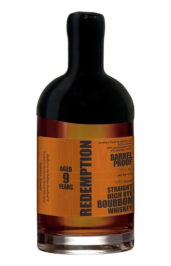Redemption Barrel Proof 109.2 High Rye Bourbon Whiskey (750 ml)