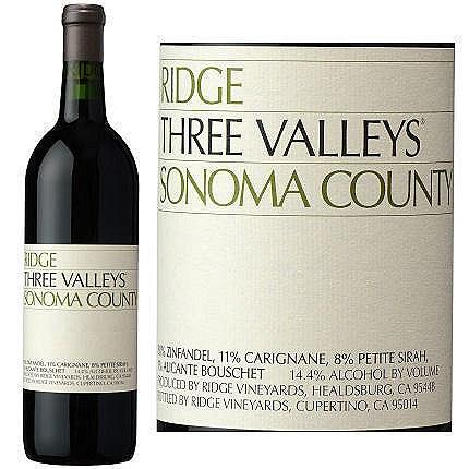Ridge Three Valleys Sonoma County 2014 (750 ml)