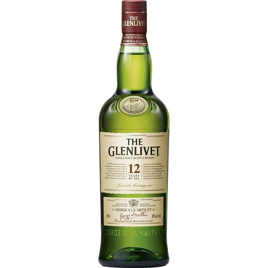 The Glenlivet 12 Year Single Malt Scotch Whisky (750 ml)