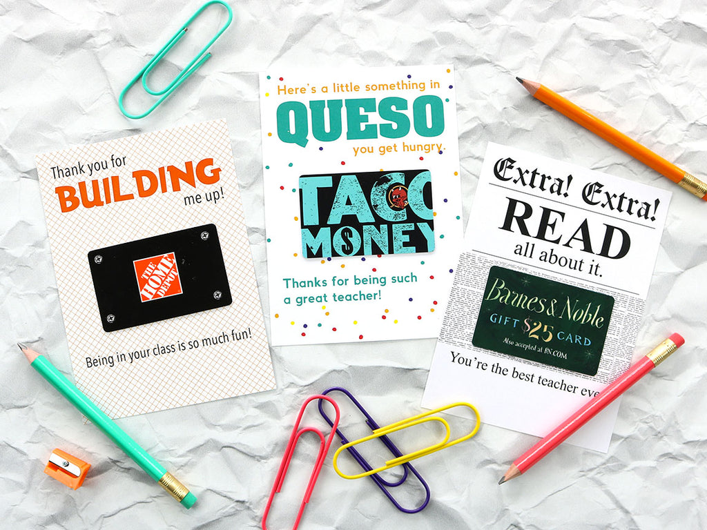 picture regarding Barnes and Noble Printable Gift Card known as Trainer Appreciation Printables Community College or university Paper Co.