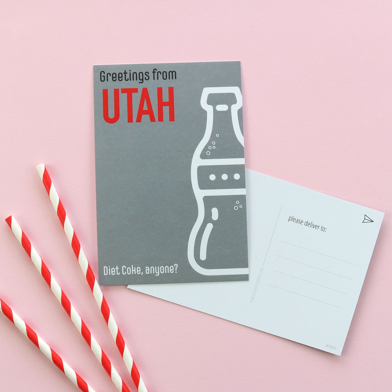 Greetings From Utah Post Card