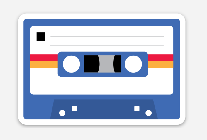 Cassette Tape VInyl Sticker