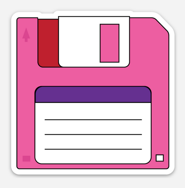 Floppy Disk Vinyl Sticker