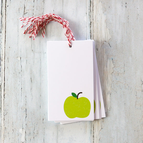 The gift tags are the perfect addition to any package. The green apple is perfect for birthdays, teacher gifts, etc. Stock up on these today.