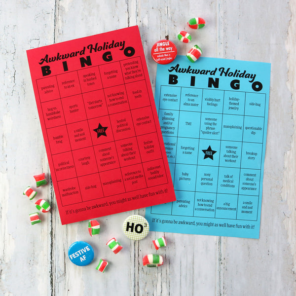 Awkward Holiday Bingo