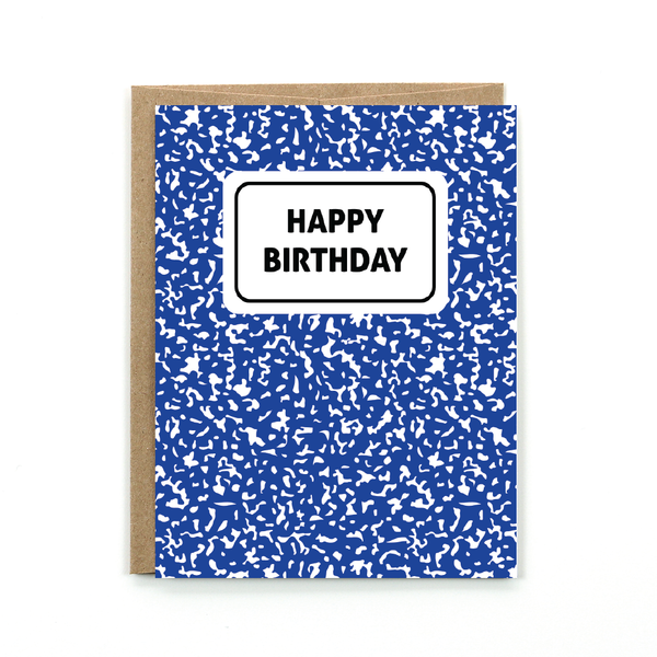 Birthday Card - Composition Notebook