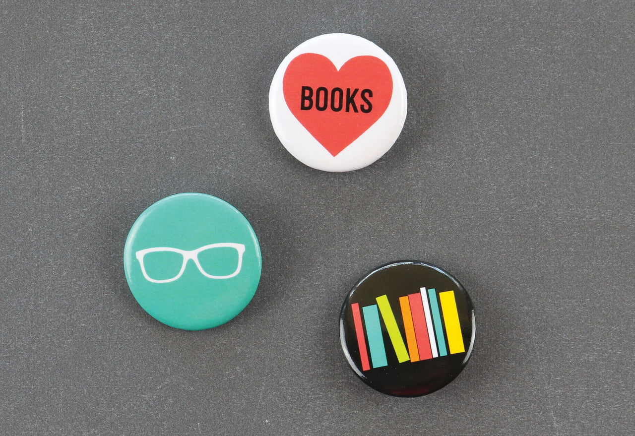 Bookworm Button Set
