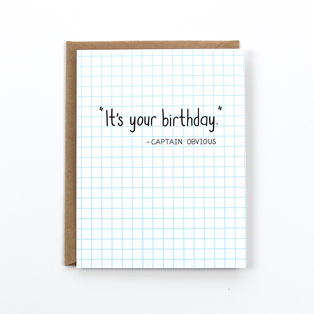 Captain Obvious Birthday Card