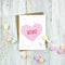 XOXO - Conversation Heart Card