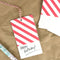 Red Stripe Gift Tags