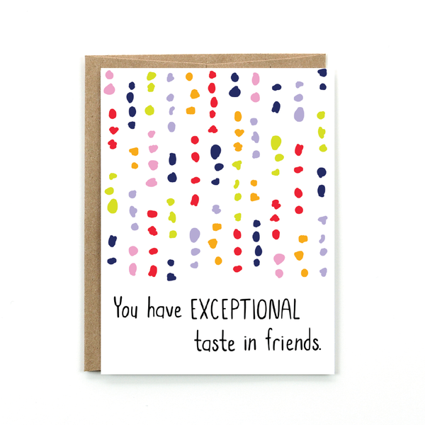 Exceptional Taste - Card
