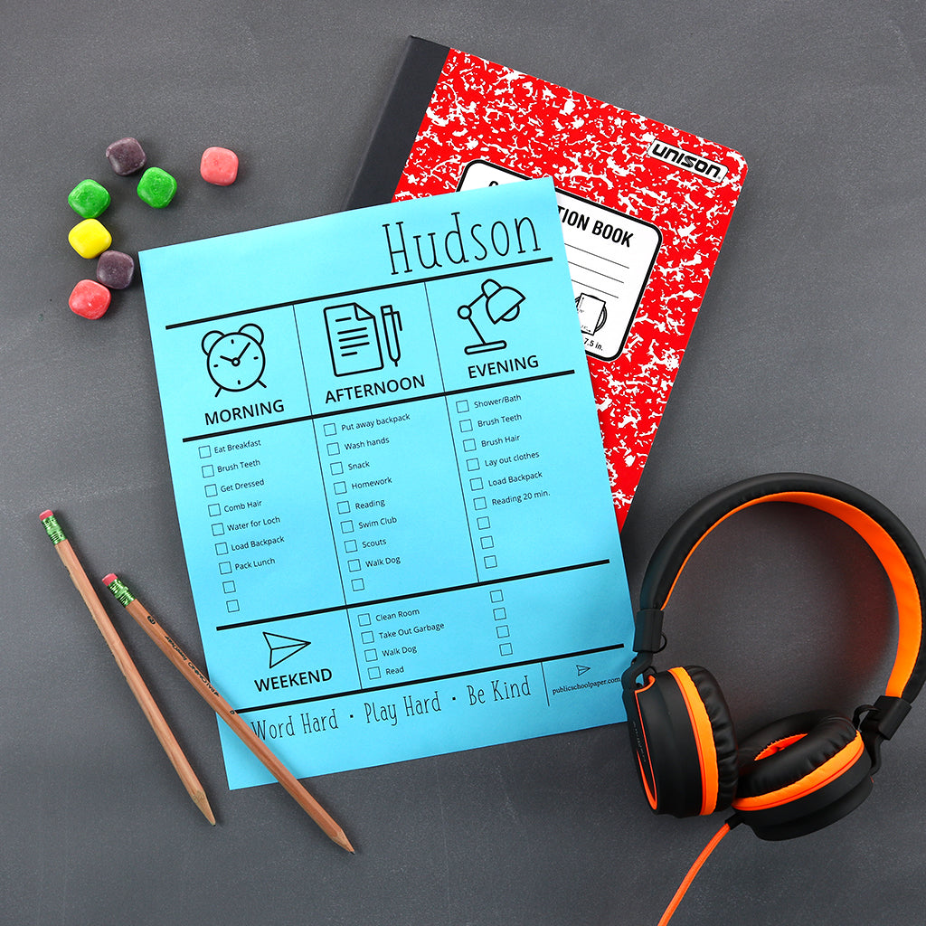 Use this editable daily checklist to get your family organized.