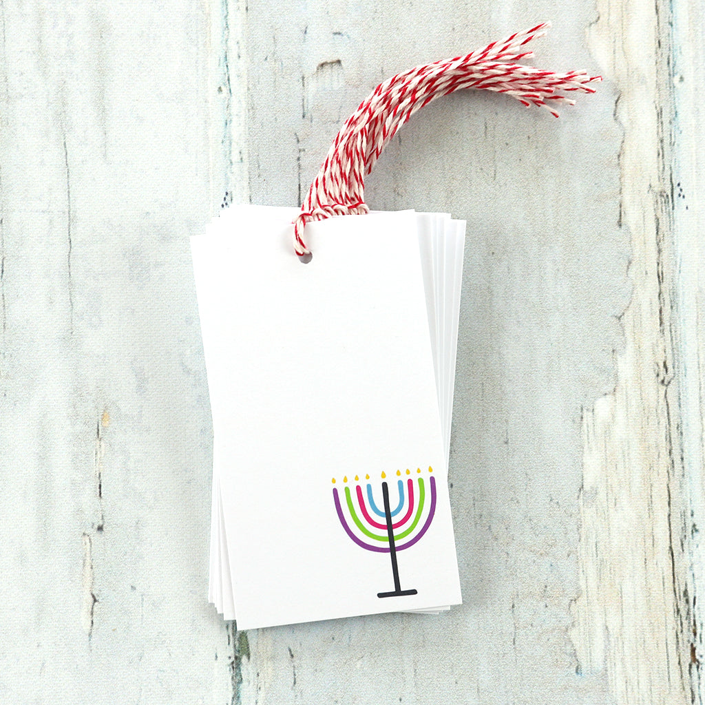 Menorah Gift Tags