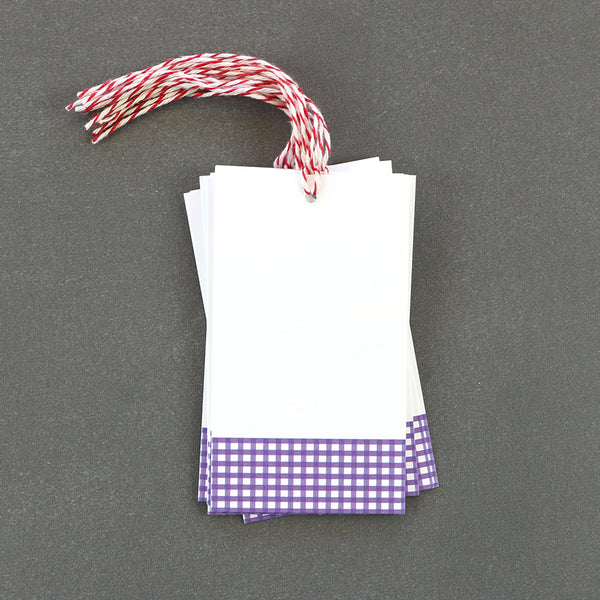 These purple gingham gift tags make a wonderful additions to any package.