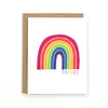 Say thanks with our cheerful rainbow card.