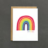 "Let your friend know how much you appreciate them by sending them this cheerful ""thanks"" rainbow card."