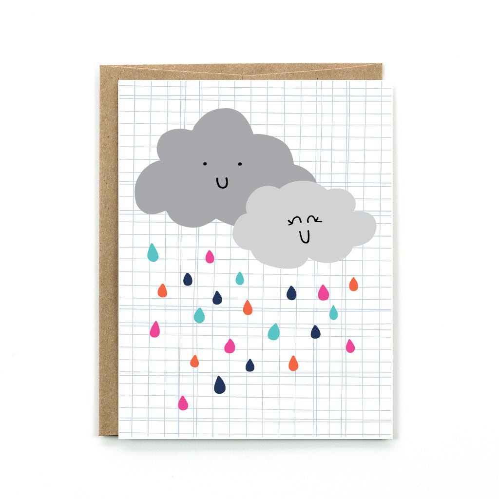 This sweet rainy day card is perfect for any occasion when you need to shower someone with love.