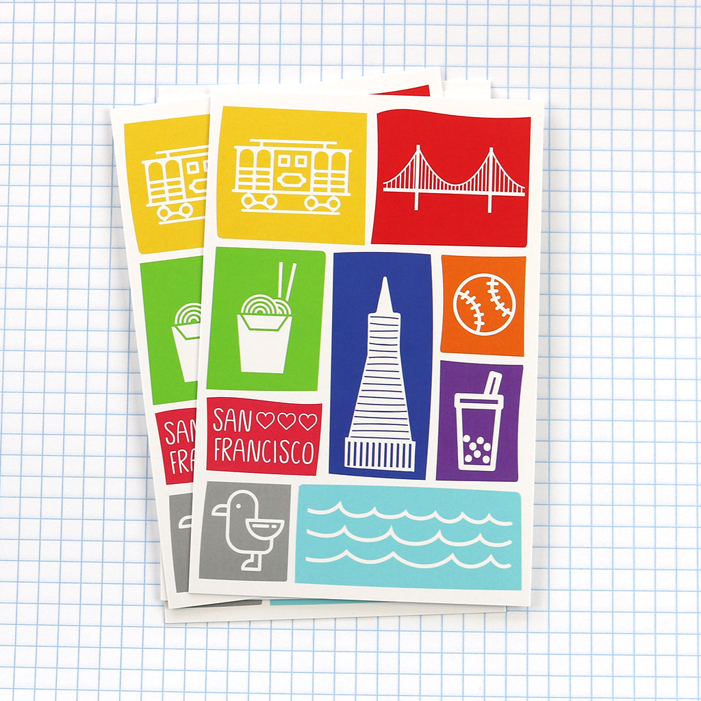 Show your love of the Bay Area with our San Francisco postcard.