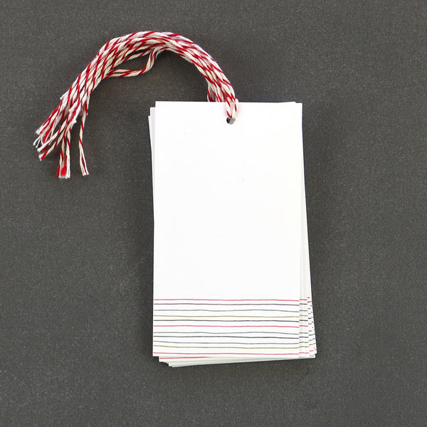 This simple stripe gift tag makes for the perfect finishing touch on any gift.