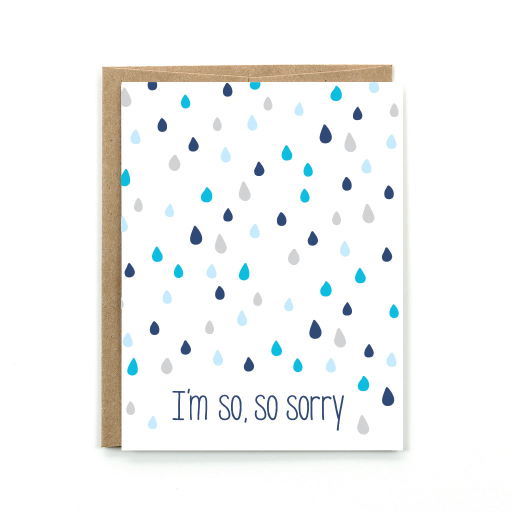 This blue and gray toned card is the perfect card to give someone when you have made a mistake.