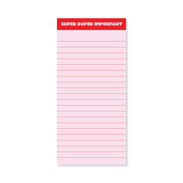Super Duper Important List Pad